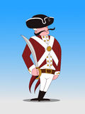 Revolutionary Soldier. An illustration Revolutionary Soldier done by  software Royalty Free Stock Image