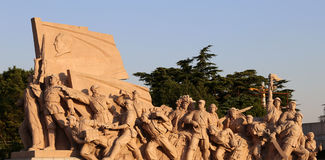 Revolutionary statues at Tiananmen Square in Beijing, China Stock Image