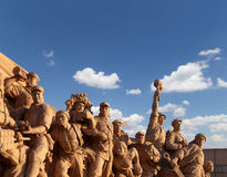Revolutionary statues at Tiananmen Square in Beijing, China Royalty Free Stock Photos