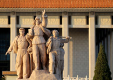 Revolutionary statues at Tiananmen Square in Beijing, China Royalty Free Stock Photo