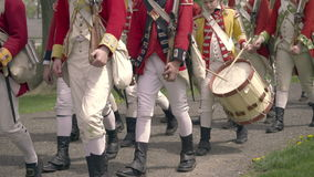 Revolutionary War Army marching by stock video