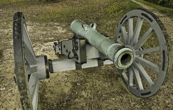 Revolutionary War Cannon. The cannon stands guard over a long past battlefield of the revolutionary war, the scars have gone but the cannon stills protects the Royalty Free Stock Photos