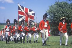 Revolutionary War Reenactment Royalty Free Stock Photography