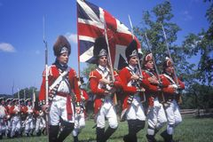 Revolutionary War Reenactment. Freehold, New Jersey, 218th Anniversary of Battle of Monmouth,1780 Stock Photos