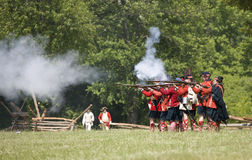Revolutionary war reenactment Royalty Free Stock Photo