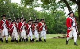 Revolutionary war reenactment royalty free stock images