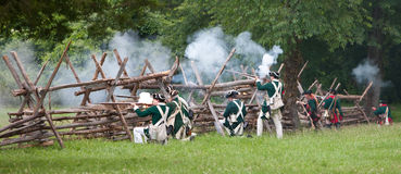 Revolutionary war reenactment Stock Photography