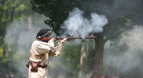 Revolutionary war reenactment Stock Images