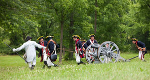 Revolutionary war reenactment Royalty Free Stock Images