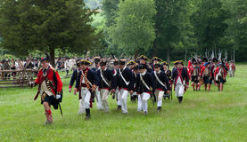 Revolutionary war reenactment Stock Photos