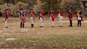 Revolutionary War Reenactment. Denver, Colorado-November 5, 2011: Reenactment of the Revolutionary War Royalty Free Stock Photos
