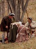 Revolutionary War Reenactment Stock Photo