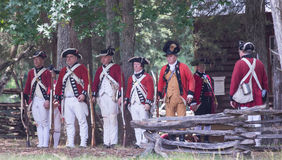 Revolutionary War Reenactment Stock Image