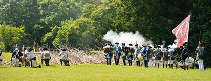 Revolutionary War Reenactment royalty free stock photos