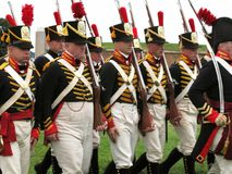 Revolutionary War Soldiers Royalty Free Stock Photo