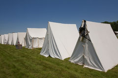 Revolutionary War or War of 1812 Tents Stock Photo