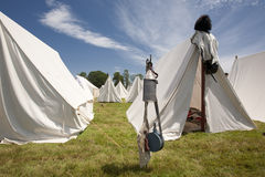 Revolutionary War or War of 1812 Tents Stock Photos