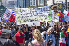 Revolutionary Zapata march against Donald Trump Royalty Free Stock Photography
