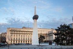Revolutionfyrkant, Bucharest royaltyfria foton