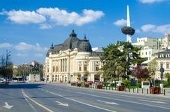 Revolutionfyrkant i Bucharest royaltyfria foton