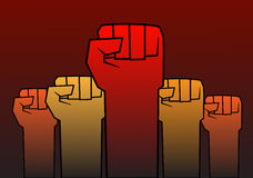 Revolutionsfaust Lizenzfreies Stockfoto
