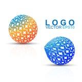 Revolve Effect Circle Design  Logo Stock Image