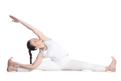Revolved Seated Angle Pose Stock Image
