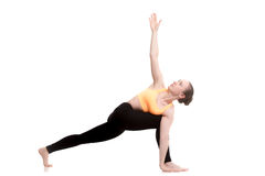 Revolved Side Angle yoga Pose Stock Photography