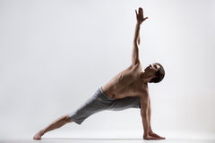 Revolved Side Angle yoga Pose Royalty Free Stock Photography