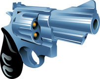 Revolver. Vector illustration of a gun Royalty Free Stock Images