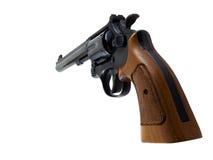 Revolver. Photo of a revolver handgun isolated on white Royalty Free Stock Image