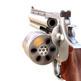 Revolver. With a rotating open drum. isolated on white stock illustration