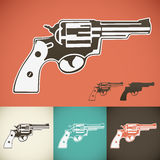 Revolver. Symbol in various colors Stock Photos