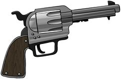 Revolver. This illustration depicts a large caliber revolver Stock Photo