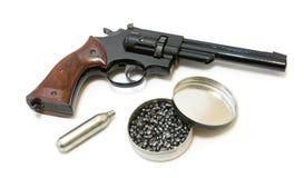 Revolver. Picture of smith & wesson wheel gun replica - 357 pistol Stock Image