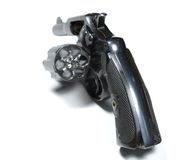 Revolver. Isolated old revolver stock photography