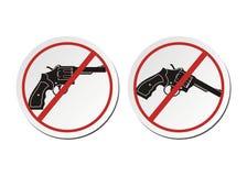 Revolver - aucun ensembles d'autocollant d'arme à feu Images stock