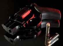Revolver on black Royalty Free Stock Images