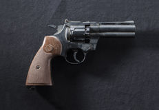 Revolver on black background Royalty Free Stock Images