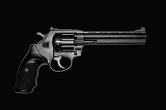 Revolver on black. Royalty Free Stock Photography