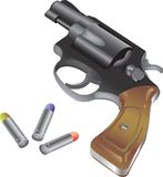 Revolver and bullet Royalty Free Stock Photos