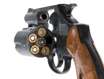 Revolver with bullets Royalty Free Stock Photography
