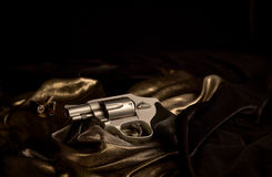 Revolver and Bullets Royalty Free Stock Photography