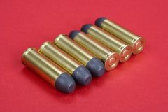 The .45 Revolver cartridges dating to 1872 Royalty Free Stock Photo