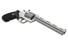 Revolver chrome pistol stock illustration