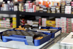 Revolver on Counter in Retail Store Royalty Free Stock Photo