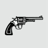 Revolver d'illustration de vecteur de pistolet Images stock
