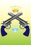 Revolver-Diamant-Corona Illustration de Vecteur