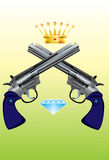 Revolver-Diamond-Corona Stock Photos
