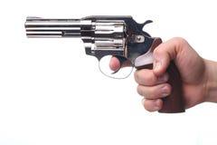 Revolver die op wit wordt geïsoleerdk Stock Afbeeldingen